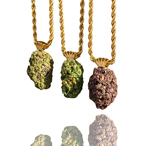 "Kannabling Cannabis Weed Marijuana Jewelry Necklace Pendant Rope Chain 30"" (Green)"
