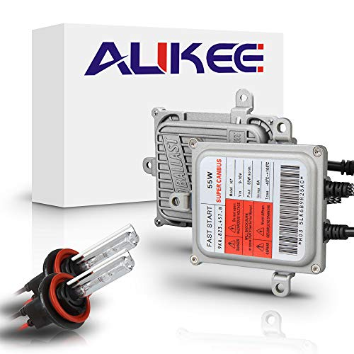Aukee 55W H11 HID Kit H8 H9 Xenon Headlight Conversion with Canbus Error Free ()