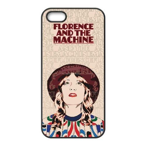 Florence + The Machine 001 coque iPhone 4 4S cellulaire cas coque de téléphone cas téléphone cellulaire noir couvercle EEEXLKNBC25071