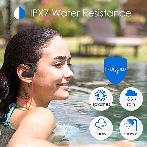 Bluetooth Headphones Wireless - Mens Womens Running Headphones - Best Sports Wireless Earbuds Earphones - IPx7 Wireless In-ear Headphones - Sport Bluetooth Headphones for Women Men (up to 10 Hours) - Image 3