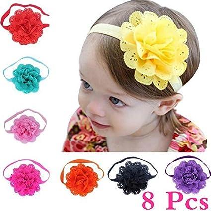 Cute Baby Flower Wide Headband Knot Bow Head Kids Hair Bands wraps Soft Elastic