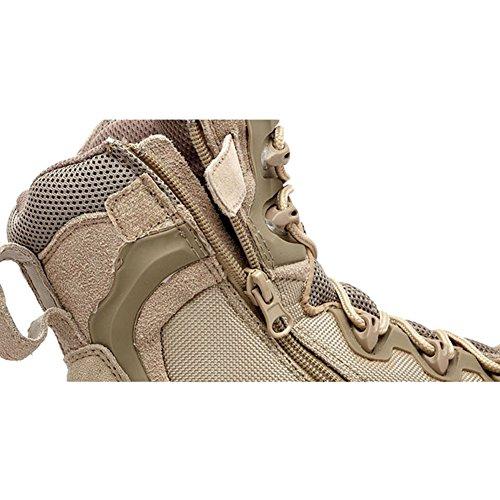 Combate Piel Deylaying Moda Táctica Policía Militar Patrulla Cadete Beige Zapatos Botas Ejército xIAZAREq
