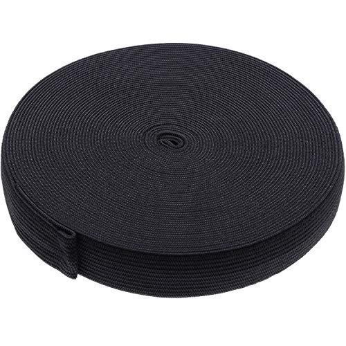 eBoot Black Elastic Spool (0.75 Inch x 11 Yard)