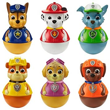 Weebles Paw Patrol Complete Figure Set (Chase, Marshall, Rubble, Skye,  Everest