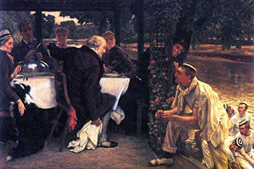 French Calf Vinyl - ArtParisienne The Fattened Calf The Prodigal Son in Modern Life James Tissot 32x48-inch Wall Decal