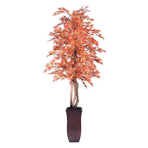 Vickerman TDX3770-07 Maple Deluxe Tree, 7', Burnish Orange ()