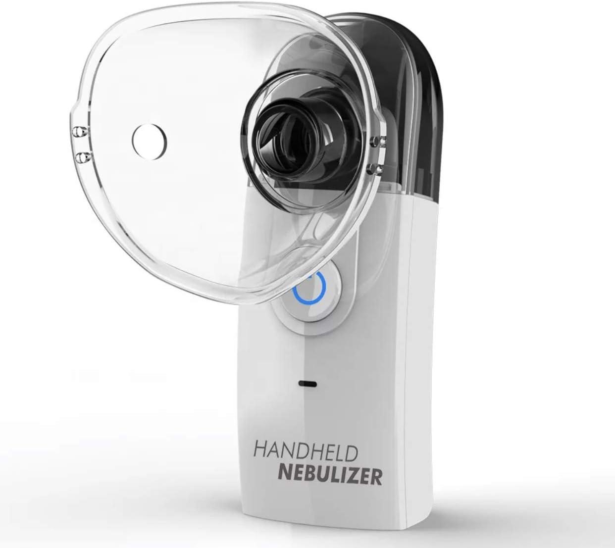 BART Mini Handheld Portable Nebulizer, Sealed Internal Rechargeable Battery, Inhaler, Nebulizer, Vaporizer, Mesh Ultrasonic Atomizer Machine, Compact Humidifier for Kids & Adults, Home & Travel Use