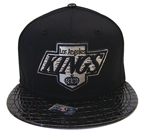 Hat Era Print New - New Era La Kings Throwback Black Crocodile Visor Bucklet Strapback Snap Cap Hat