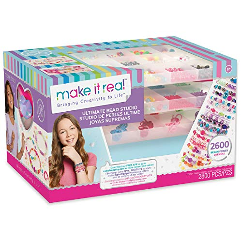 - Make It Real - Ultimate Bead Studio. DIY Tween Girls Beaded Jewelry Making Kit. Arts and Crafts Kit Guides Kids to Design and Create Beautiful Bracelets, Necklaces, Rings and Headbands