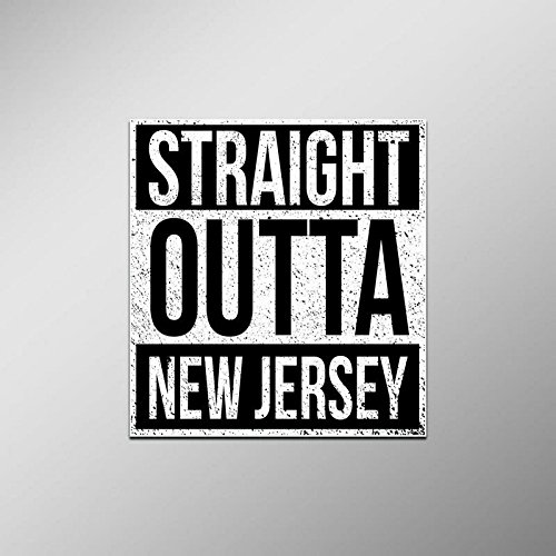 Straight Outta New Jersey Vinyl Decal Sticker | Cars Trucks Vans SUVs Laptops Walls Windows Cups | Full Color | 4.5 X 5 Inches | KCD2083