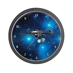 CafePress - STARTREK 1701A PLEIADES - Unique Decorative 10 Wall Clock