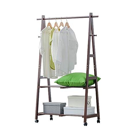 Amazon.com: Perchero de madera 3 en 1 para colgar ropa, 2 ...