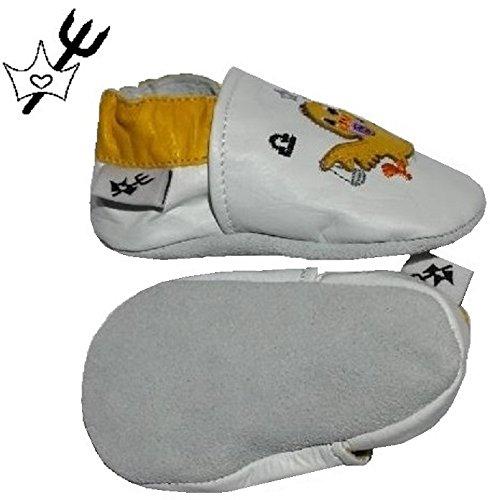 Chaussure Chausson Pour Bébé Garçon Fille En Cuir Souple Fabriqué à La Main Chaussures Chaussons Pour Nouveau-né Motif Astro Balance CHAUSSONS PRINCESSES & DIABLOTINS®