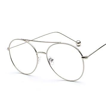Aoligei Personnalité Steel Ball lunettes de soleil femme mer morceau Street clap lunettes original hôte vent rétro transparent Lunettes de soleil 60Opgh1F6n