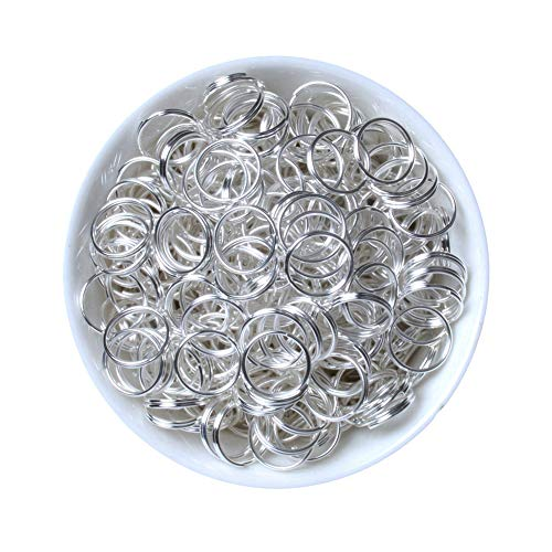 - iZasky Open Jump Double Rings 200Pcs 4mm 5mm 6mm 8mm 10mm Stainless Steel Copper Single Loop & Split Rings for Jewelry Making Accessory and Necklace Bracelet Chain Earring (Silver, 5mm)