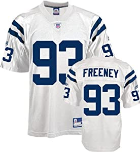 Reebok NFL Equipment Indianapolis Colts #93 Dwight Freeney Youth White Replica Football Jersey