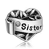 T50Jewelry Love Heart Sister April Birthstone