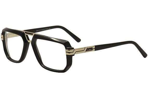 Amazon.com: Cazal 6013 Eyeglasses 001 Black-Gold/lente ...