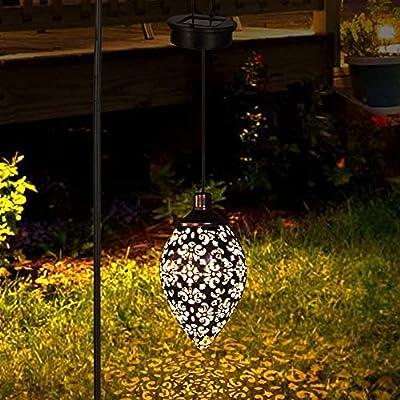 Lámpara Luz de Linterna Solar Al Aire Libre, LED Luz Colgante de Jardín Patio Impermeable Linterna Colgante Decorativa para Patio Yard Exterior Interior Césped (Blanca Cálida): Amazon.es: Iluminación