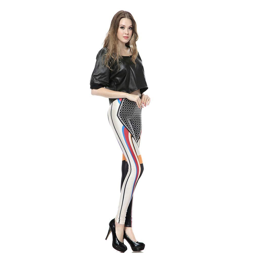 MAOYYMYJK Yoga-Hose Für Damen Fashion Bedruckte Stretch Strumpfhosen Leggings Tragen Leggings