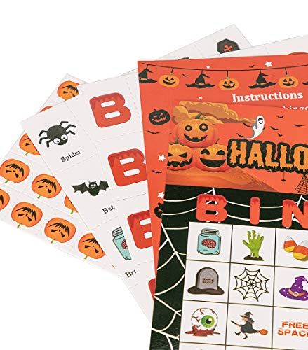 Halloween Games Bingo Cards for Kids Party Supplies 24players by jollylife (Image #4)