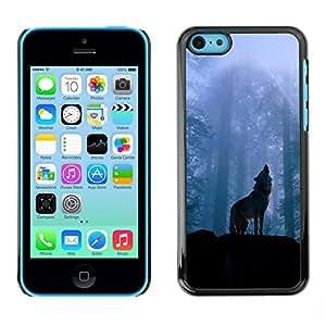 """For Apple iPhone 5C , S-type Naturaleza Lobo"""" - Arte & diseño plástico duro Fundas Cover Cubre Hard Case Cover"""