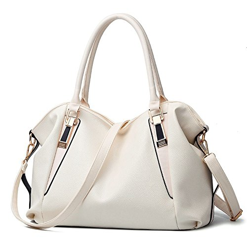 OVOV Ladies Women's for Women's Bags Handle Leather Handbags Hobo Bags White Shoulder Top Large PU rrOnwqR7S