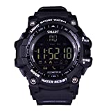 AOKII Outdoor Waterproof IP67 Bluetooth Sport Smart Watch with Android and IOS Smartphones (Black)