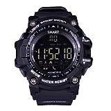 LEMFO Smart Watch Bluetooth Digital LED Smartwatch 5ATM Waterproof SMS Notifier Pedometer (Black)