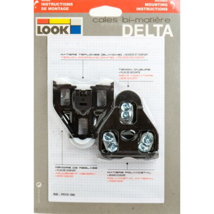 Look Cycle Delta Road Cleat Black 0 Degree, One Size by Look