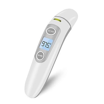RegeMoudal Termómetro Digital Frente y Oído Para Bebés Adultos Objets 3 in 1 Alta Precisión Infrarrojo