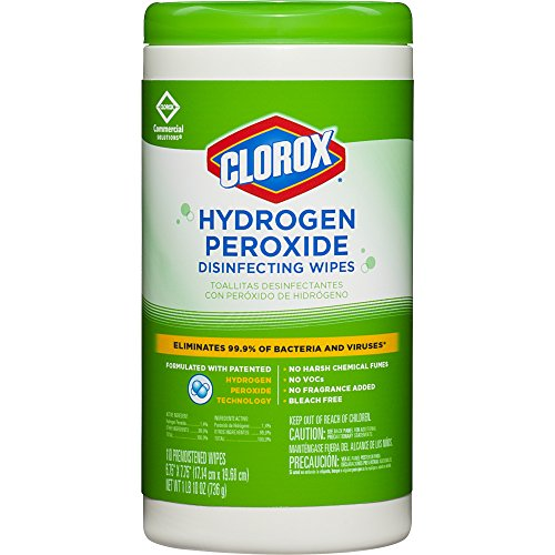 Clorox Commercial Solutions Hydrogen Peroxide Disinfecting Wipes, 110 Count Canister ()
