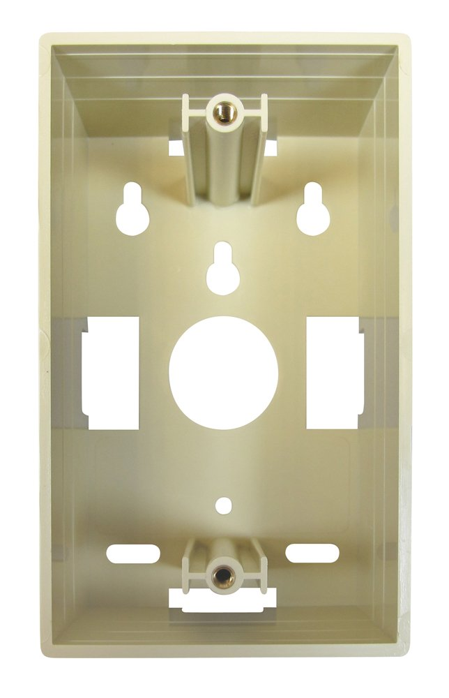 Allen Tel Products AT625MBD-09 1 Port Mounting Screw 1-7//8-Inch Depth Surface Mounting Box Ivory