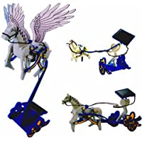 MISSO 米索 创意潮品 太阳能三合一DIY组装玩具飞马战车