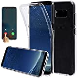 Xelcoy 360 Degree Soft Silicone Full Body Protection Front & Back Slim Hybrid Case Cover Protector For Samsung Galaxy S8 Plus Transparent