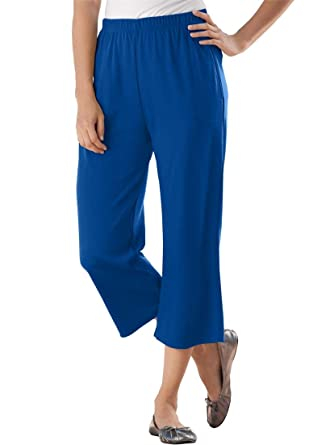 Women's Plus Size 7-Day Knit Capris at Amazon Women's Clothing store: