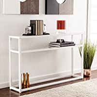 Baldock Fresh White Metal Narrow Console Table
