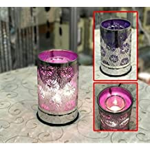 TOUCH SENSOR LAMP - PURPLE FLOWER W/ SCENTED OIL HOLDER 20W