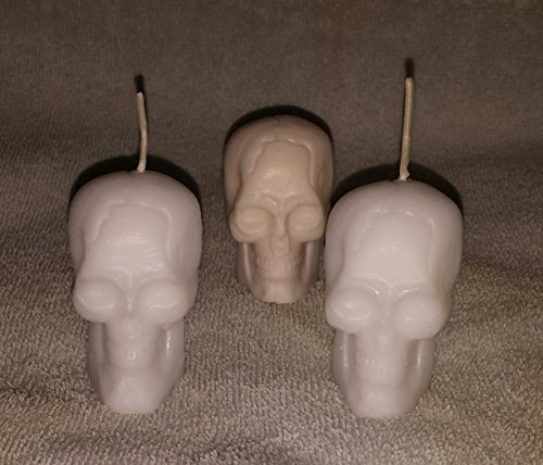 001 Small Skull Votive Candles- Set of 3 (Collection Color Votivo)