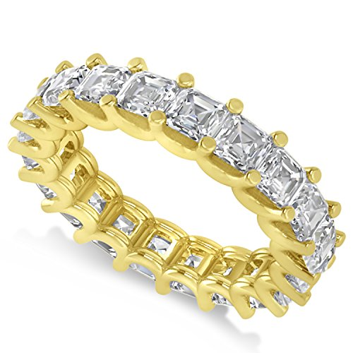 - Allurez Radiant-Cut Diamond Eternity Wedding Band Ring in 14k Yellow Gold (5.00ct)