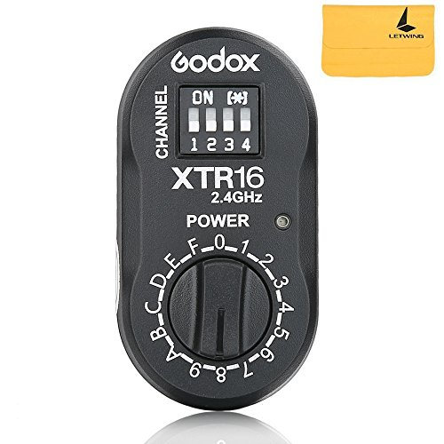 Godox XTR-16 Wireless 2.4G Remote Control Flash Receiver for Godox Witstro outdoor flash, Quicker, Quicker D, QT, QS, Gemini GT, Gemini GS, DE, and DP series Studio Flashes by Godox