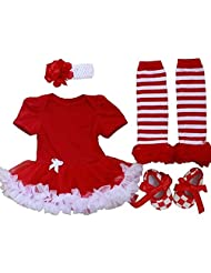 Vikoros Baby-Girls Christmas Solid Romper Dress Sets Outfits