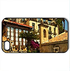 Beautiful Place - Case Cover for iPhone 4 and 4s (Modern Series, Watercolor style, Black) by icecream design