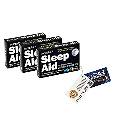 HealthA2Z Sleep Aid, 3-In-1,Compare to Tylenol® Simply Sleep Active Ingredient