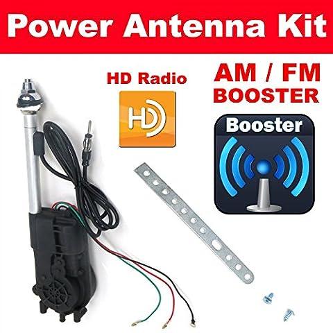 Radiotronics HD Antennas TJ261331 1955 - 1957 Chevrolet Belair High Def AM FM XM Radio Power Aerial Radio Antenna
