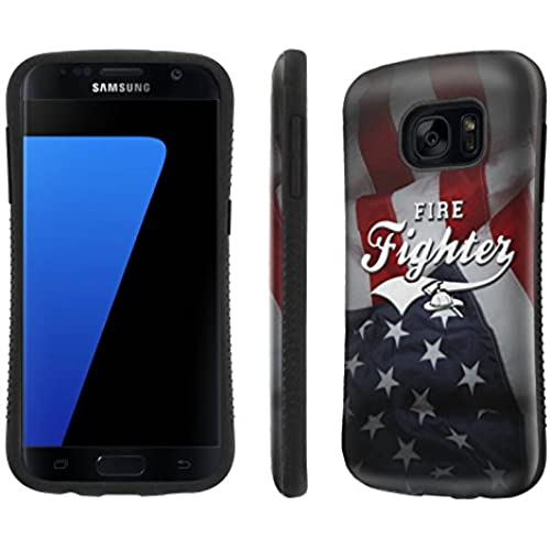 Galaxy [S7] Tough Designer Case [SlickCandy] [Black Bumper] Ultra Shock Absorbent - [Fire Fighter Flag] for Samsung Galaxy S7 / GS7 Sales