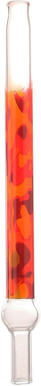 Kaya Shisha Camouflage XS, Boquilla de Cristal para Pipa de Agua, Boquilla de Cristal con diseño de Camuflaje, Longitud: Aprox. Conector de 20 cm Plus 3 cm.