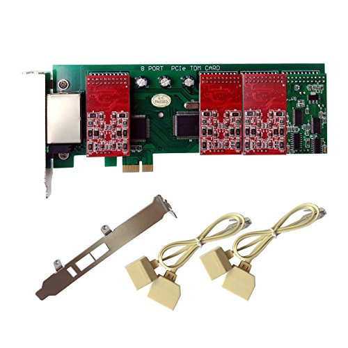 Analog Card X800E with 6 FXO+2 FXS Ports,PCI-E,with 2U Profile,For (2 Fxo Port Card)