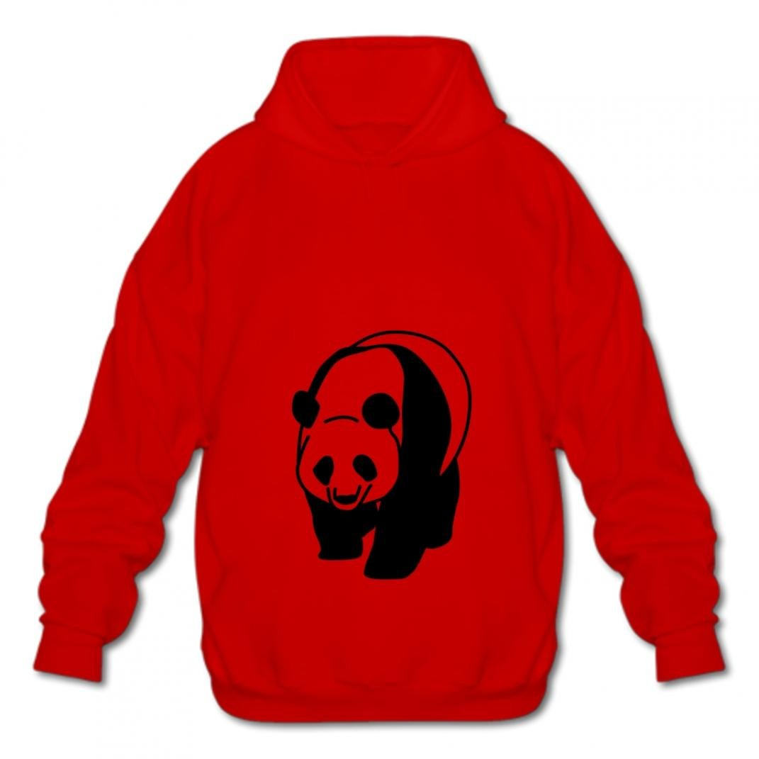 Gizhongqu Mens Sweatshirt Fashion Cotton Pullover Hoodies Fashion Hoodies-03 Cartoon Panda Lxvw