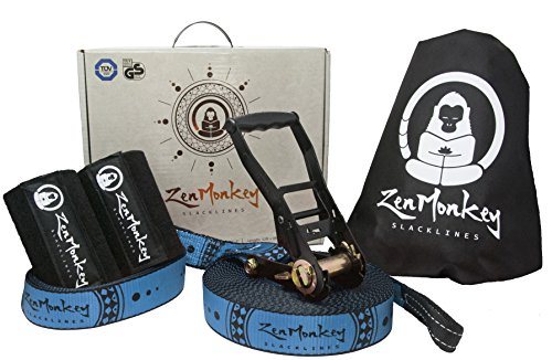 ZenMonkey Slackline Kit with Tree Protectors